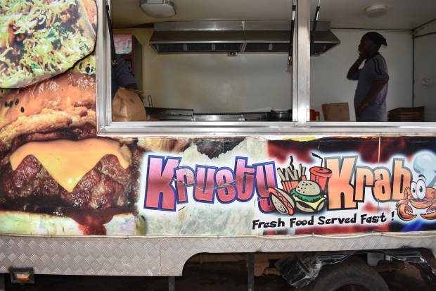 Krusty Krab food truck in Kampala