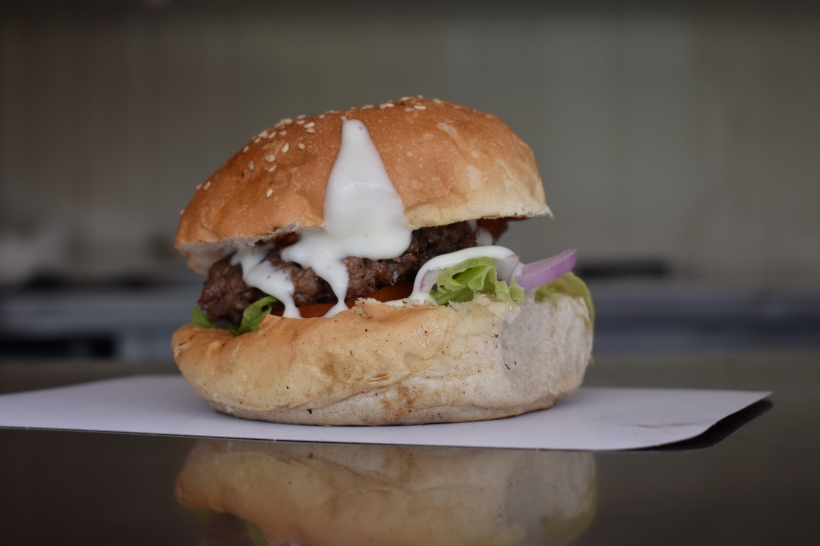 The Munch truck burger
