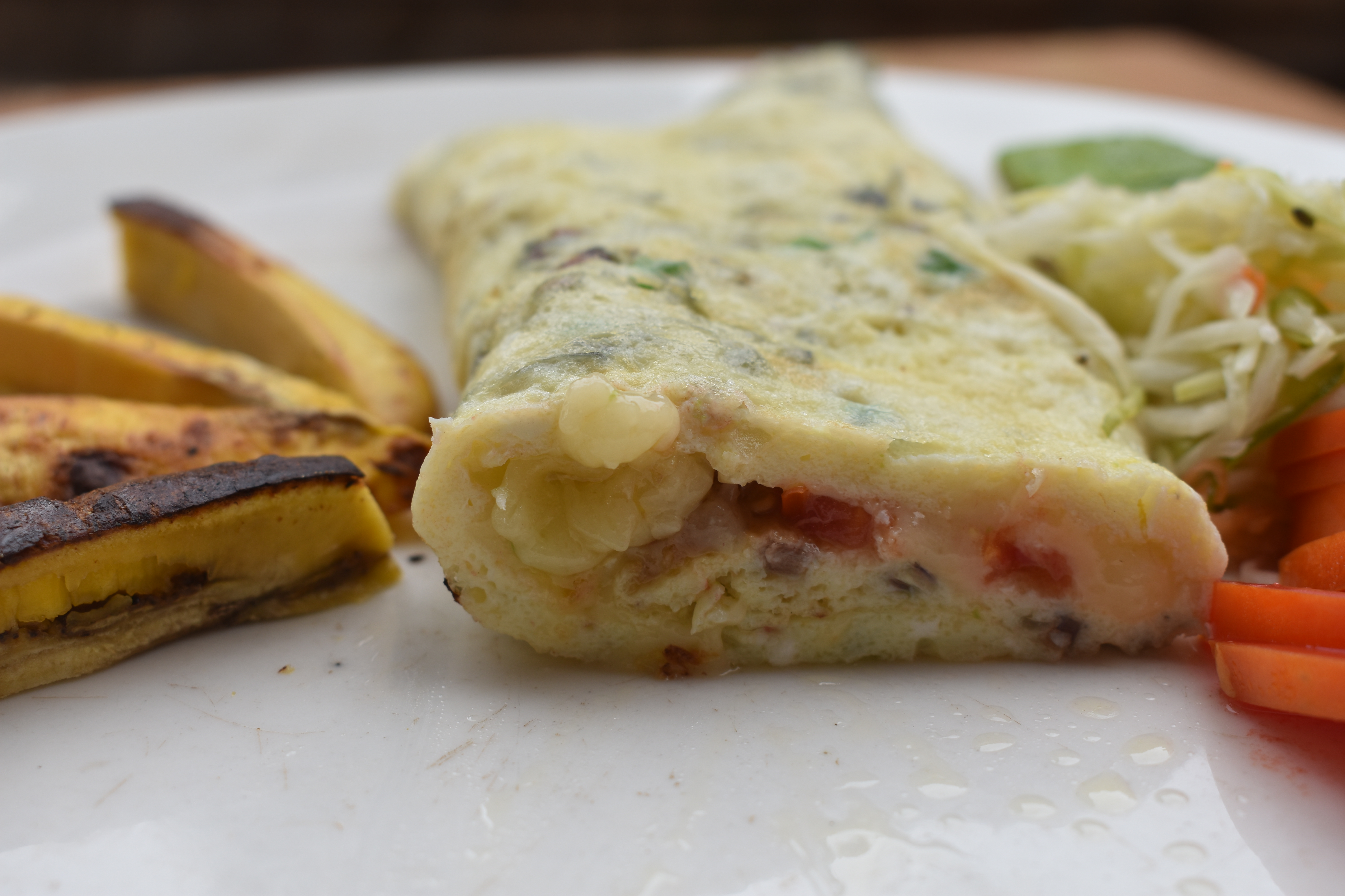 eggs with cheese and meat