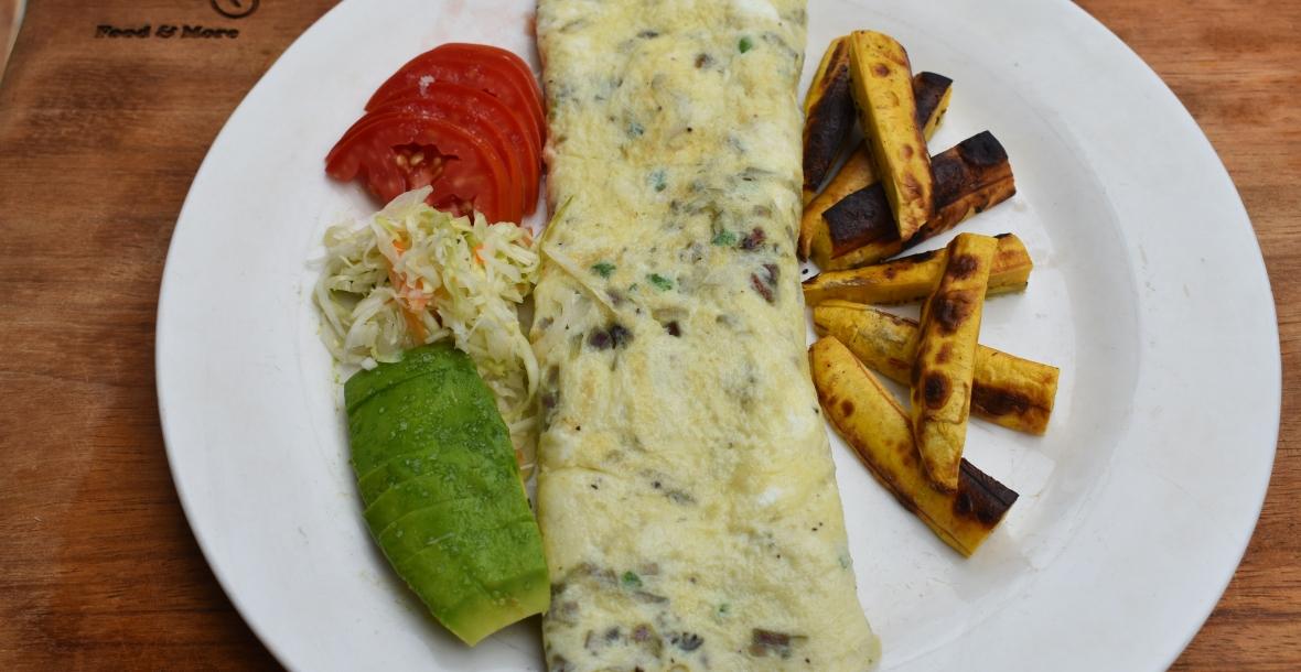 omelette, fried egg, home made