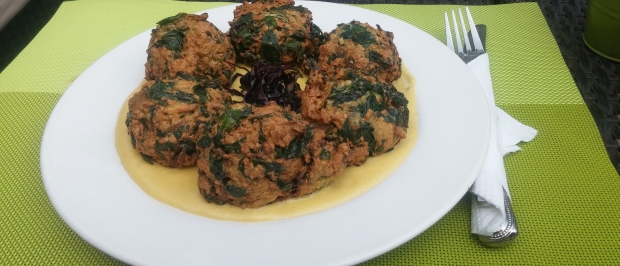 spinach balls, vegetarian meals, kampala restaurant week