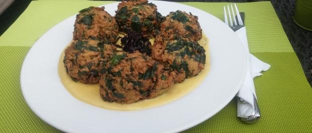 spinach balls, vegetarian meals, kampala restaurant week
