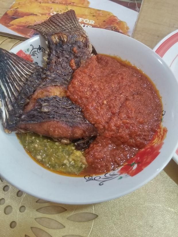 okra and fish