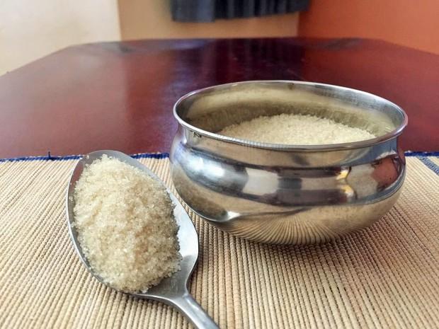 bowl of sugar, spoon full of sugar
