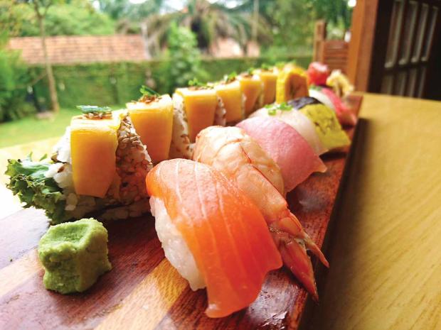 sushi at yujo izakaya kampala