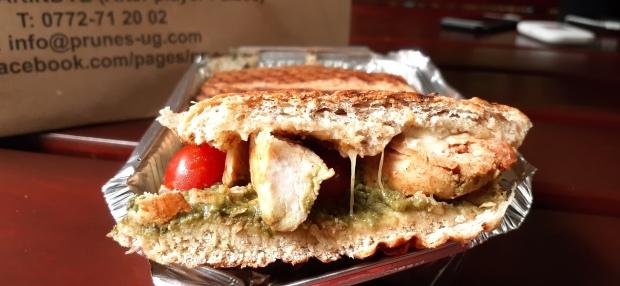 cheesey chicken and pesto sandwich, pesto